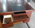 1.4米双仿皮办公桌